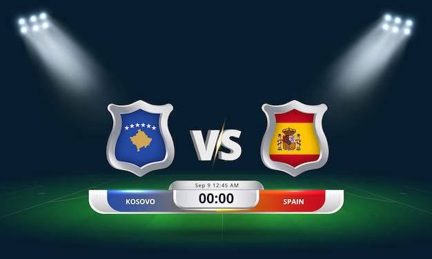 Match de football match de qualification pour la coupe du monde fifa 2022 kosovo vs espagne