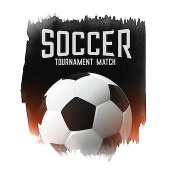 Match de football soccer match abstrait