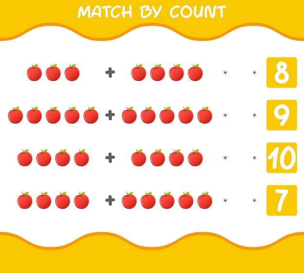 Match par nombre de pommes de dessin animé