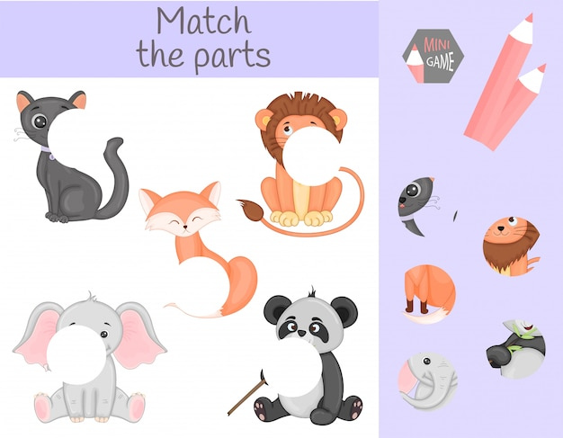 Match des parties d'animaux