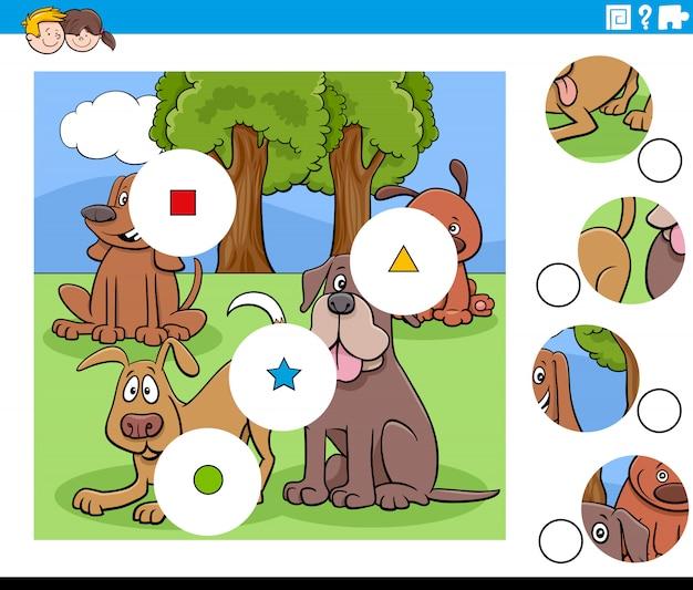 Match de pièces avec des personnages de chiens