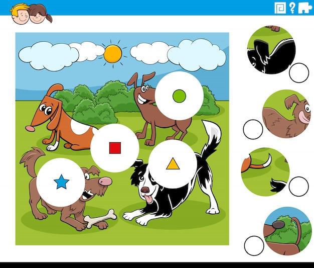 Match pièces puzzle avec des personnages de chiens