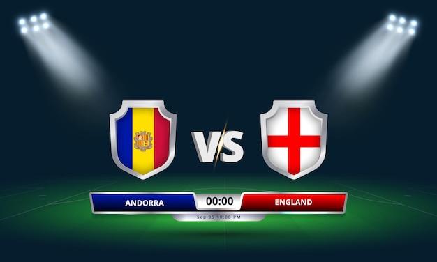 Match de qualification pour la coupe du monde fifa 2022 andorre vs angleterre