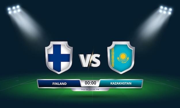 Match de qualification pour la coupe du monde de la fifa 2022 finlande vs kazakhstan