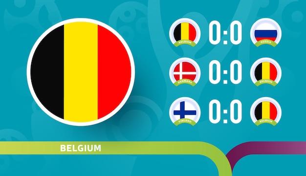 Matchs du calendrier de l'équipe nationale belge lors de la phase finale du championnat de football 2020
