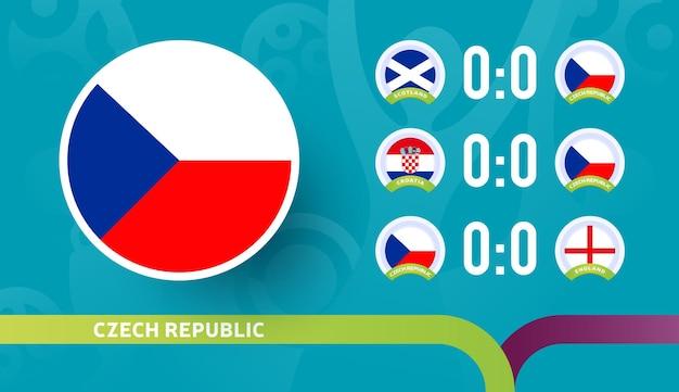 Matchs du calendrier de l'équipe nationale de la république tchèque dans la phase finale du championnat de football 2020