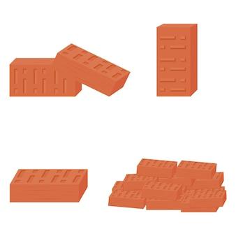 Matériau De Construction En Brique, Illustration Vectorielle De Couleur Isolée Vecteur Premium