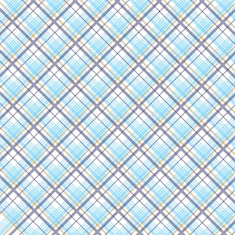 Matériau de fond en tissu diagonal motif tartan