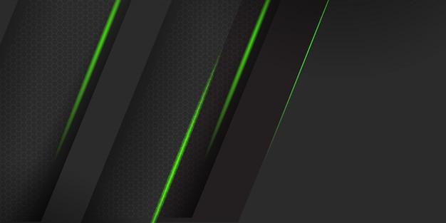 Matériau sombre géométrique avec fond de rayures vertes
