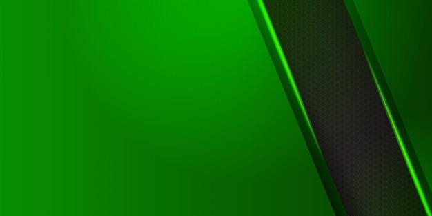 Matériau vert géométrique avec fond de rayures