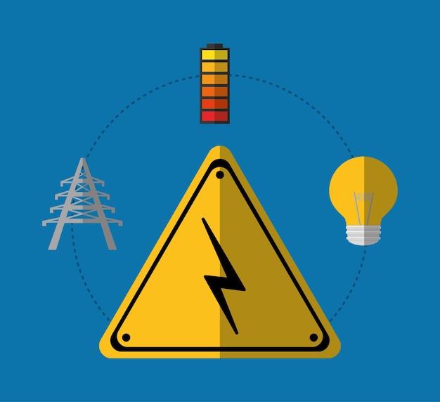 Matériel électrique et fournitures, illustration vectorielle