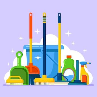 Matériel d'hygiène pour le nettoyage des surfaces