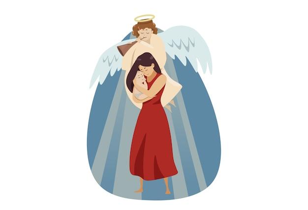 Maternité, religion, christianisme, bénédiction, concept d'amour