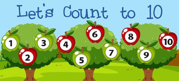 Math coutant pomme à dix
