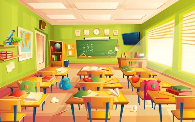 Maths intérieur de la salle de classe