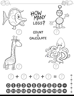 Maths jeu coloriage