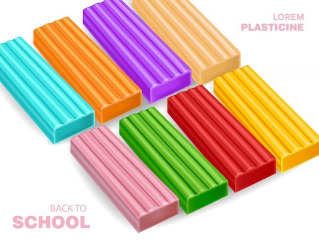 Matière plastique à base d'argile