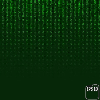 Matrice de luminescence néon de code binaire vert