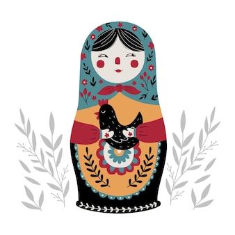 Matriochka poupée russe russe traditionnelle culture russe jouet folklorique poupée babushka