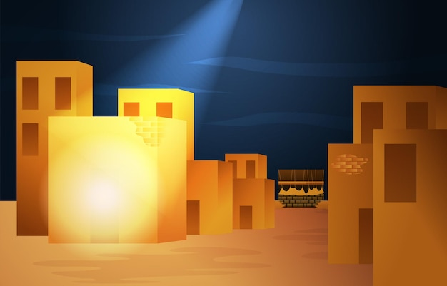 Maulid nabi prophète muhammad anniversaire mecque histoire islam illustration islamique