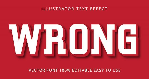 Mauvais effet de texte modifiable
