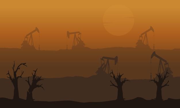 Mauvais environnement avec un paysage désabusant