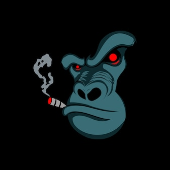 Mauvais gorille fumant