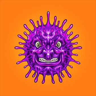 Mauvaise illustration de virus