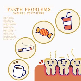 Mauvaise nourriture et boisson pour les dents