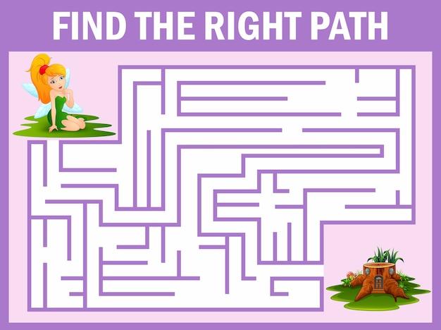 Maze game trouve la fée s'envoler à la maison
