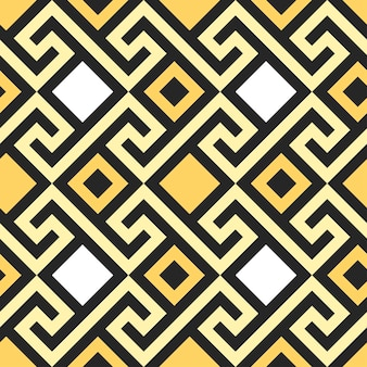 Méandre traditionnel d'ornement grec carré d'or vintage sans soudure