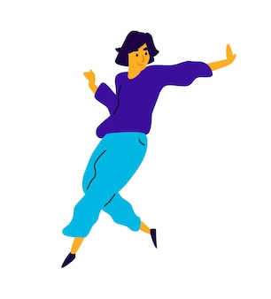 Mec joyeux dansant.