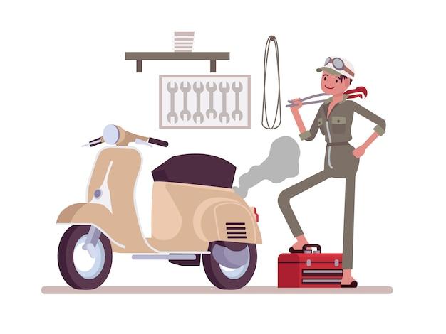 Mécanicien de moto