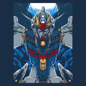Mecha robot illustration