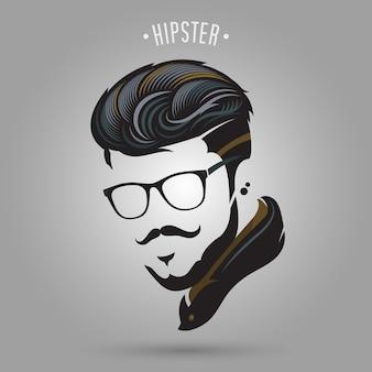 Mèches de cheveux hipster