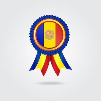 Médaille avec le drapeau national d'andorre