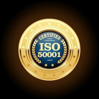Médaille de la norme iso 50001 - gestion de l'énergie