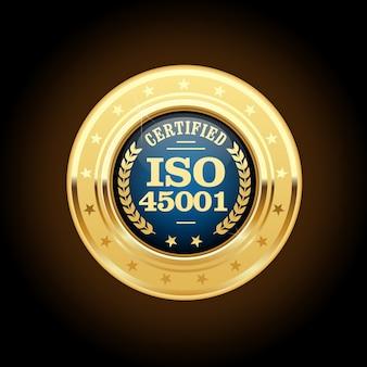 Médaille de la norme iso - santé et sécurité au travail