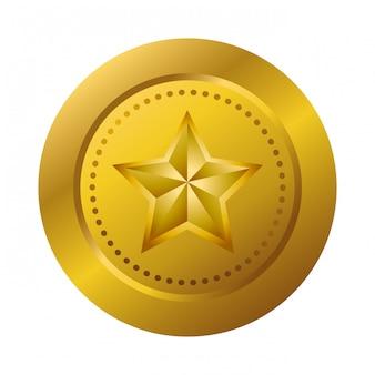 Médaille d'or avec étoile