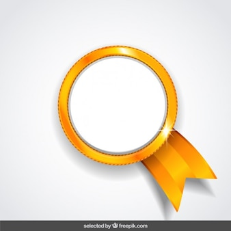 Médaille d'or isolé
