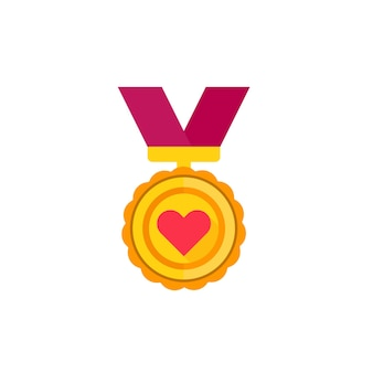 Médaille pour les goûts, icône d'appréciation