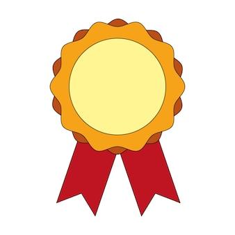 Médaille avec ruban vector illustration design