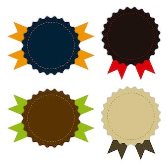 Médaille de tissu vintage, promotions ou qualités