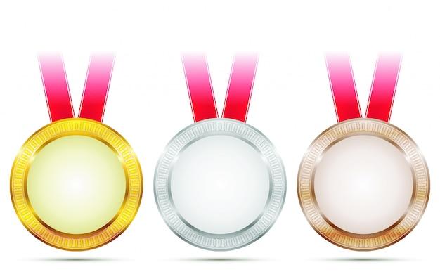 Médailles d'accomplissement de vecteur
