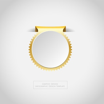 Médailles de champion d'or argent en bronze