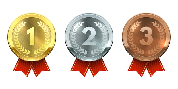 Médailles d'or, d'argent et de bronze