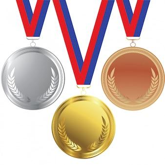 Médailles d'or et d'argent