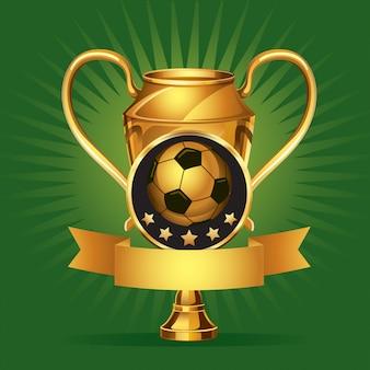 Médailles d'or de soccer.