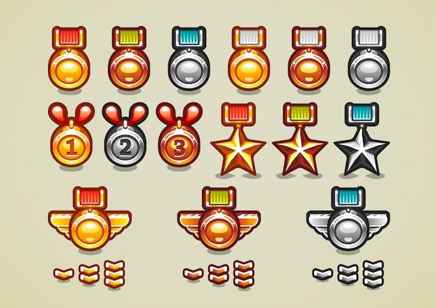 Médailles et réalisations