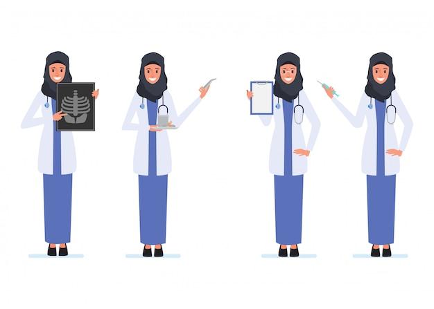 Médecin de caractère médecin musulman ou arabe.